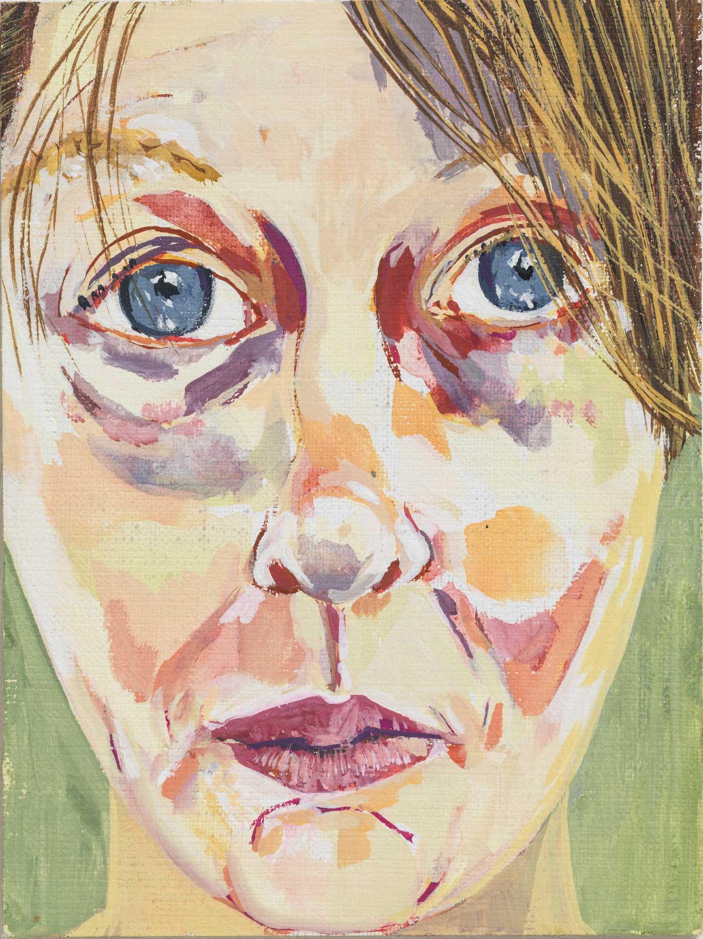 Autoportrait-IV,-2016,-gouache-sur-bois,-15-x-10-
