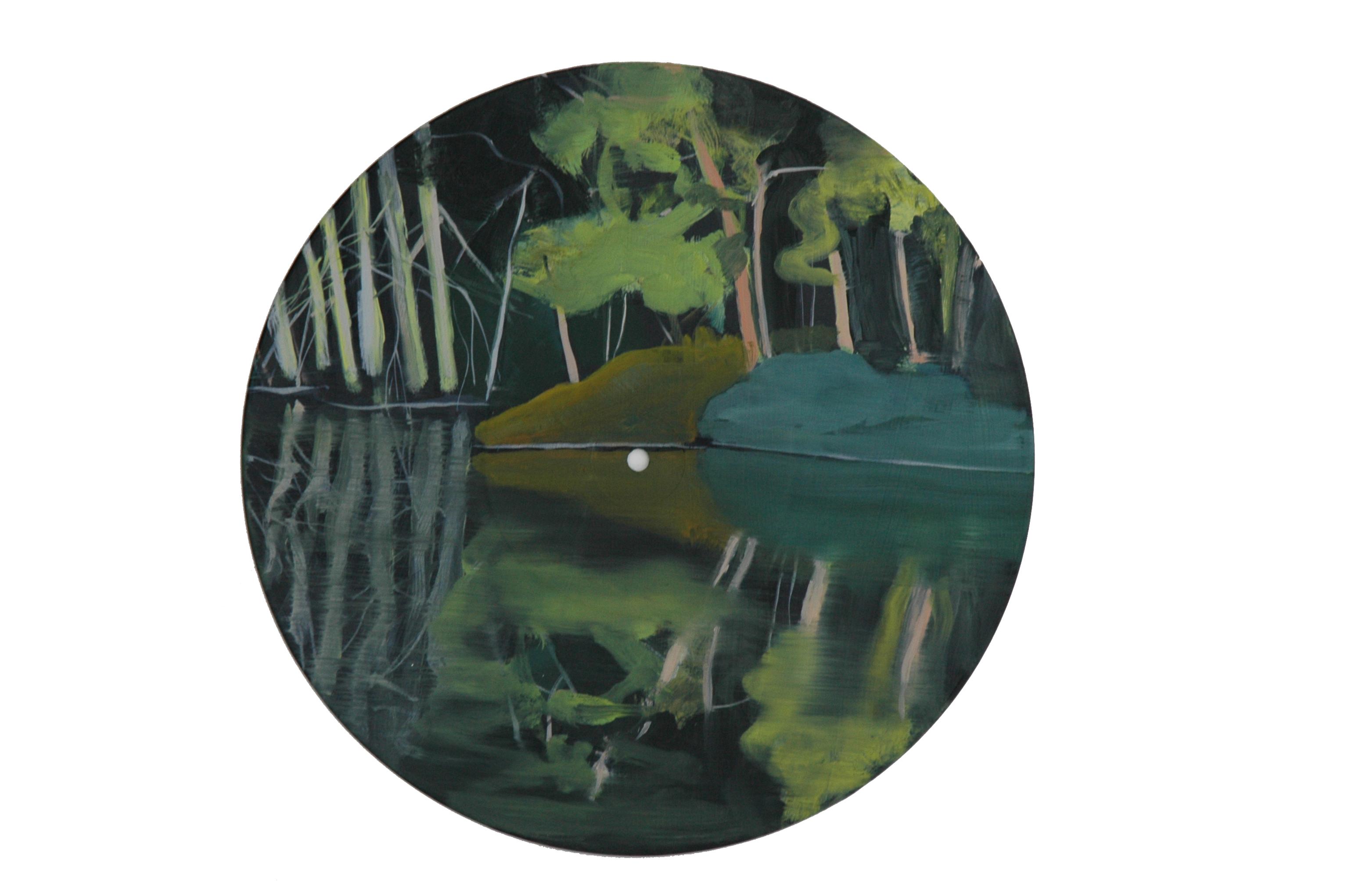 Tournerond I, 2009, huile sur vinyl